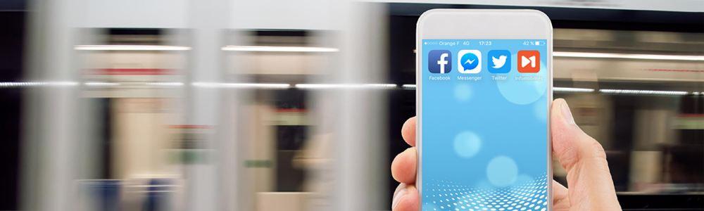 Notre offre : réseaux sociaux d'information voyageurs